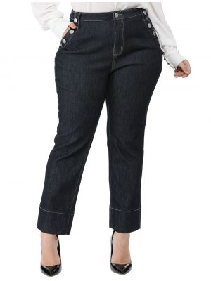 Women's Plus Size Career Straight Leg Bootcut Jeans
