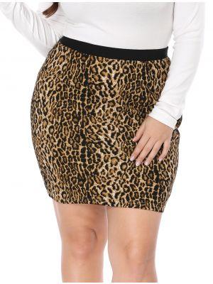 Women's Plus Size Skirts Elastic Waist Mini Pencil Skirt